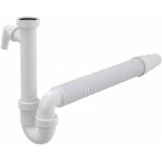 Сифон за кухненска мивка без витло 1 1/2 и гъвкава връзка ф40/50 ALCAPLAST