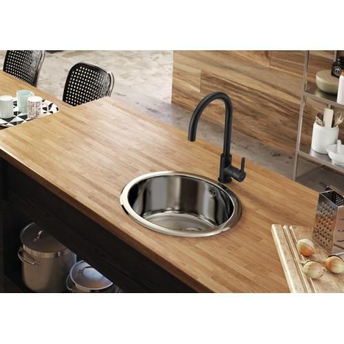 """Смесител за кухненска мивка MENCIA """"ROCA"""" Черен"""